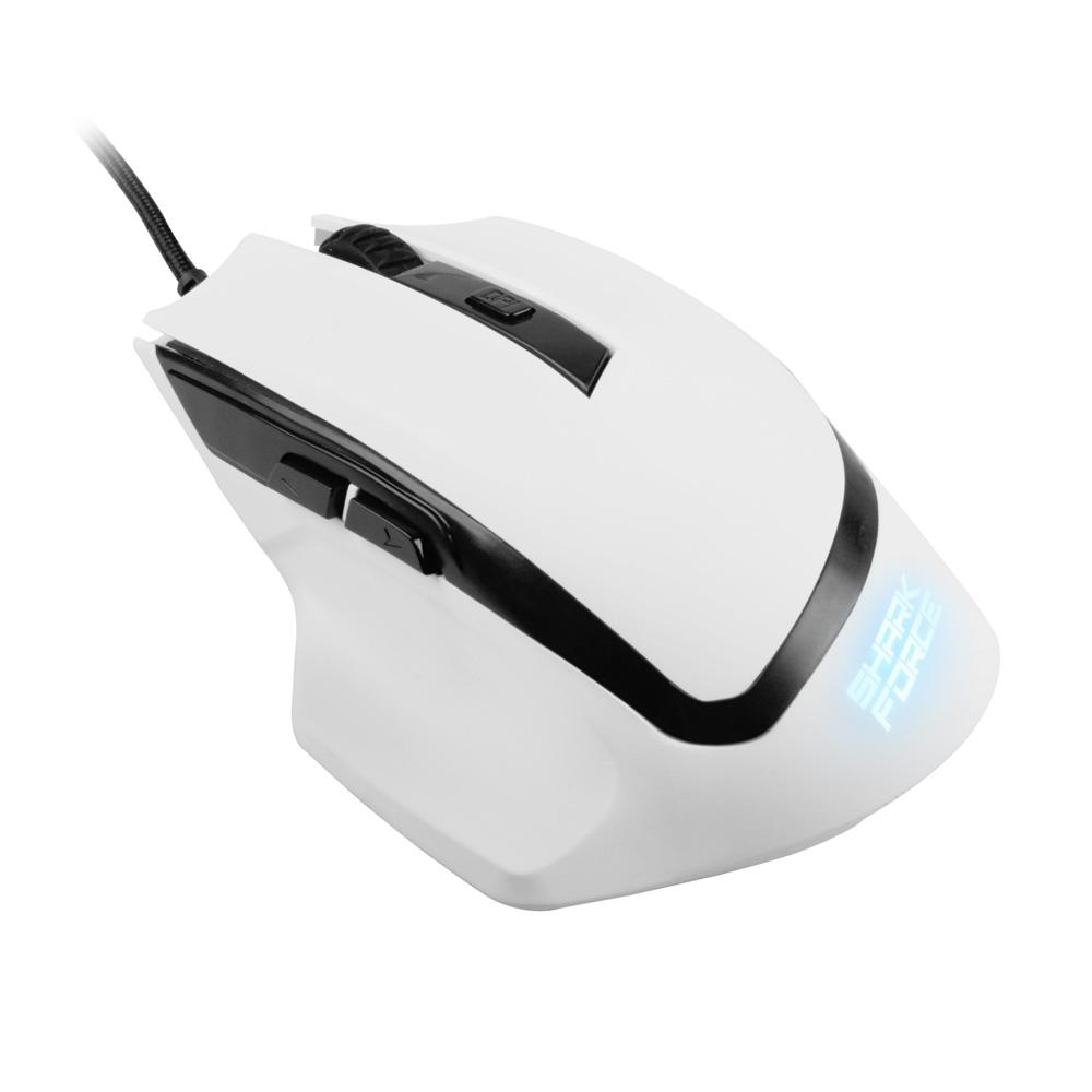 Геймърска мишка Sharkoon SHARK Force White-2