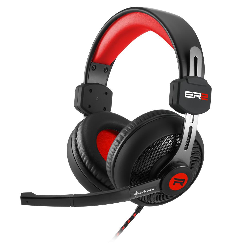 Геймърски слушалки Sharkoon RUSH ER2 Red
