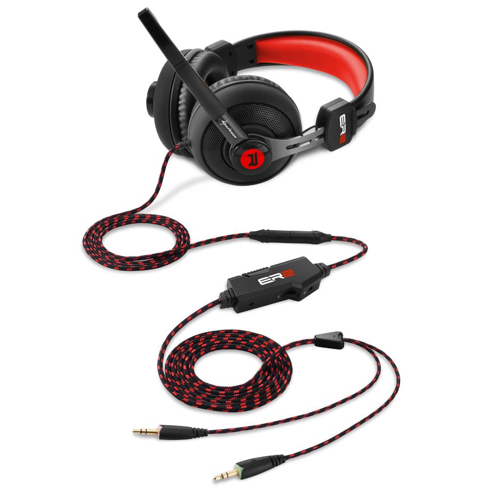 Геймърски слушалки Sharkoon RUSH ER2 Red-2