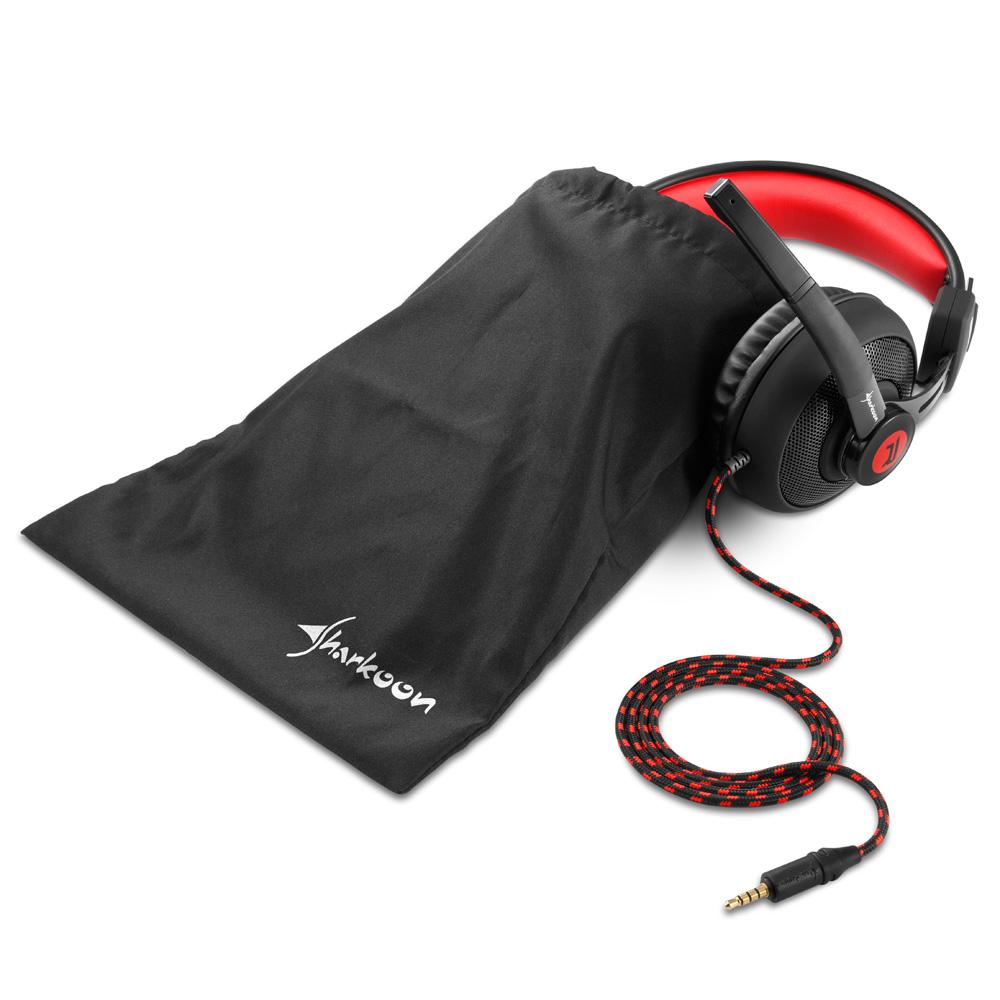 Геймърски слушалки Sharkoon RUSH ER2 Red-3