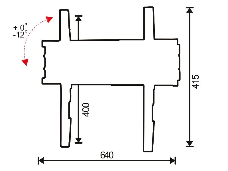 Стойка за стена OMB SLIM TILT 600-2
