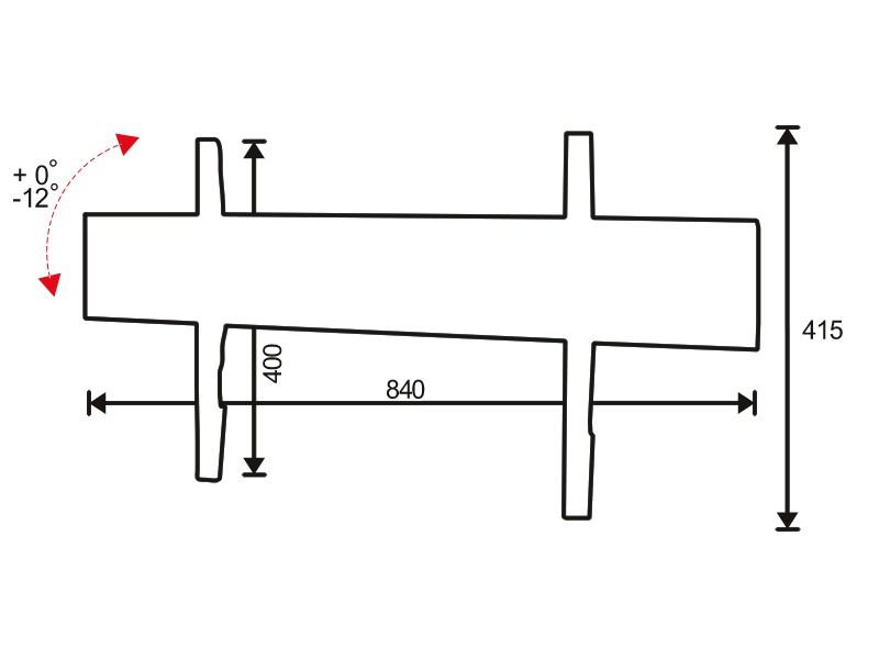 Стойка за стена OMB SLIM TILT 800-2