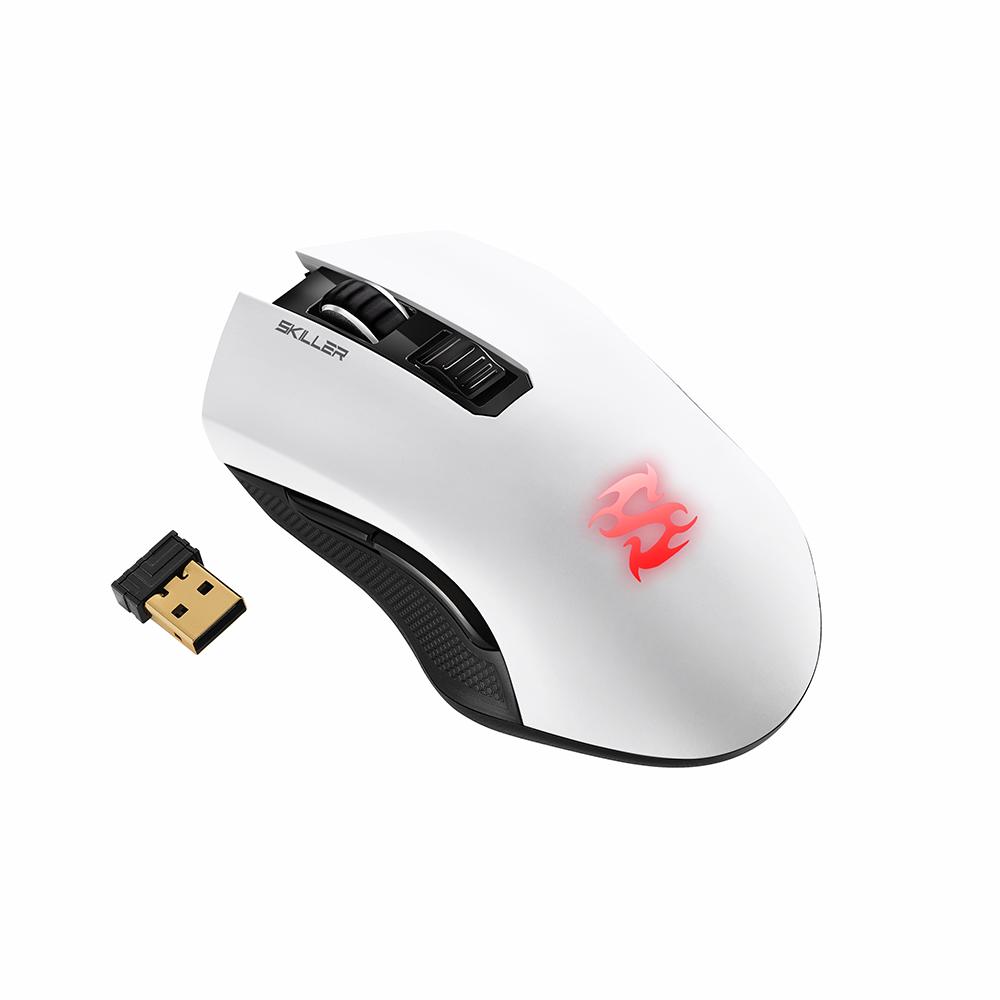 Геймърска безжична мишка Sharkoon Skiller SGM3 White