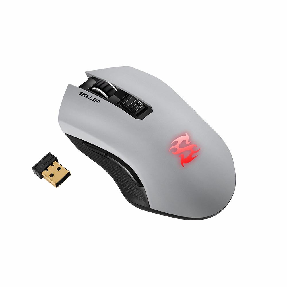 Геймърска безжична мишка Sharkoon Skiller SGM3 Grey