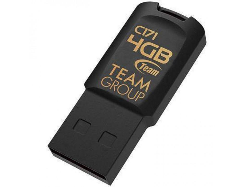 USB памет Team Group C171, 4GB, USB 2.0, Черен