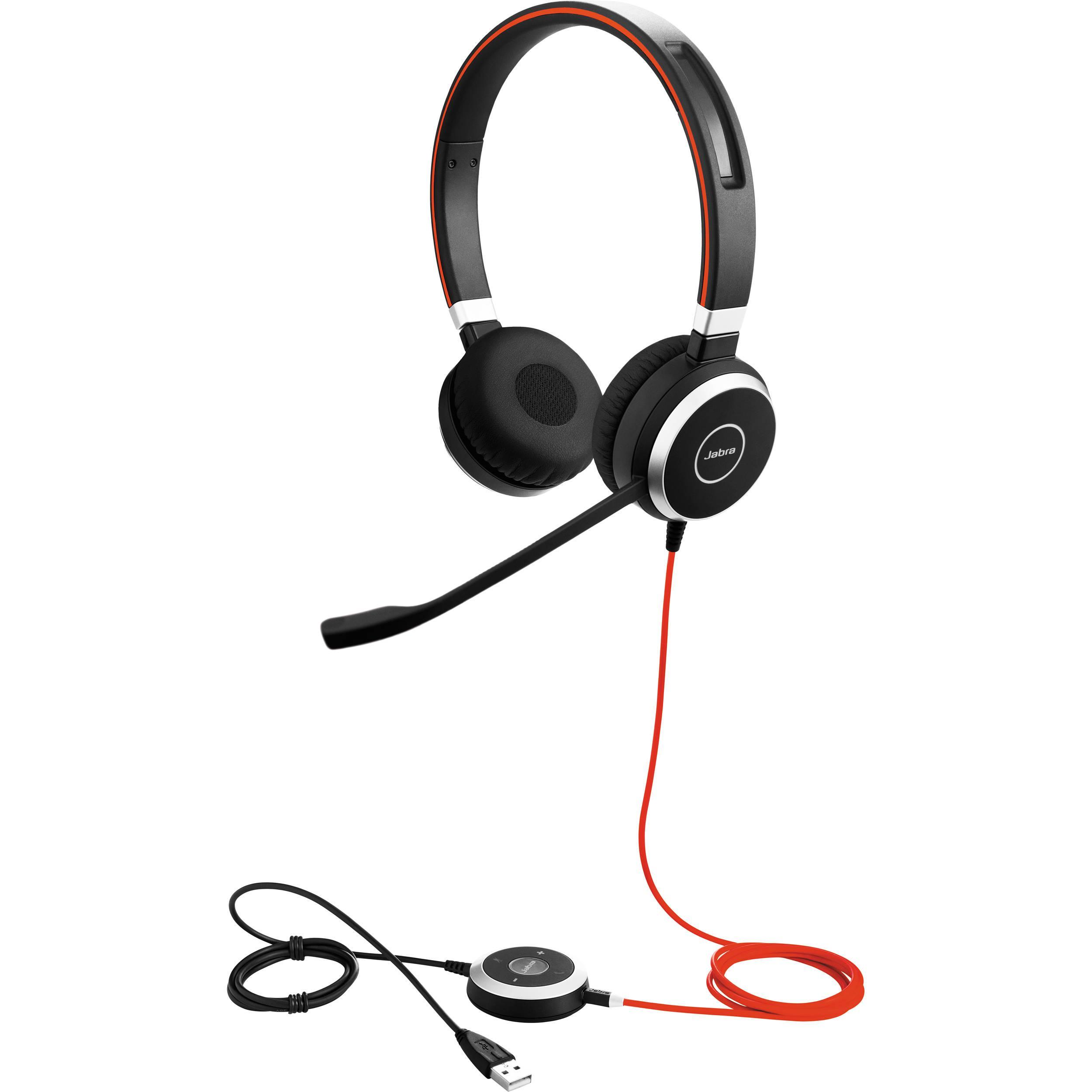 Слушалки Jabra Evolve 40 Stereo, Микрофон, Черни