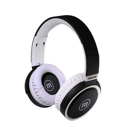 Слушалки с микрофон  MAXELL B52 черно и бяло