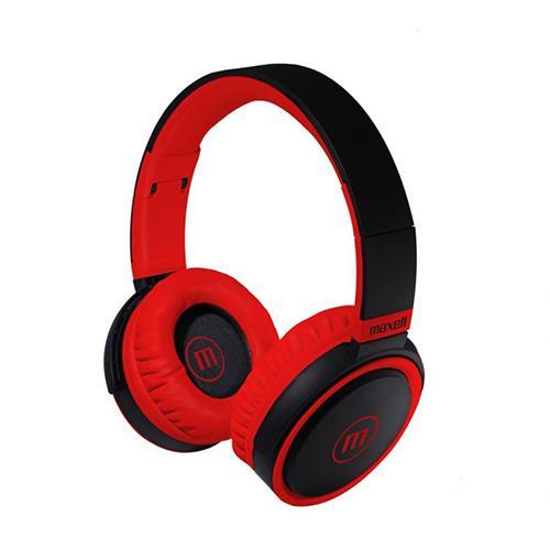 Слушалки с микрофон  MAXELL B52 черно и червено