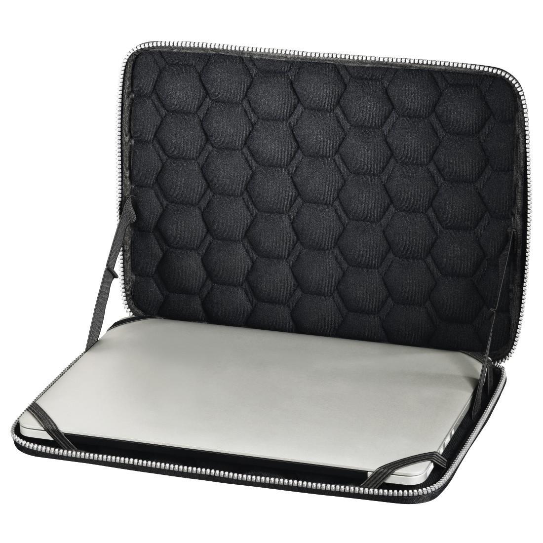 Универсален калъф за лаптоп HAMA Protection, до 34 см  (13.3),  удароустойчив, пластмасов, Черен-2