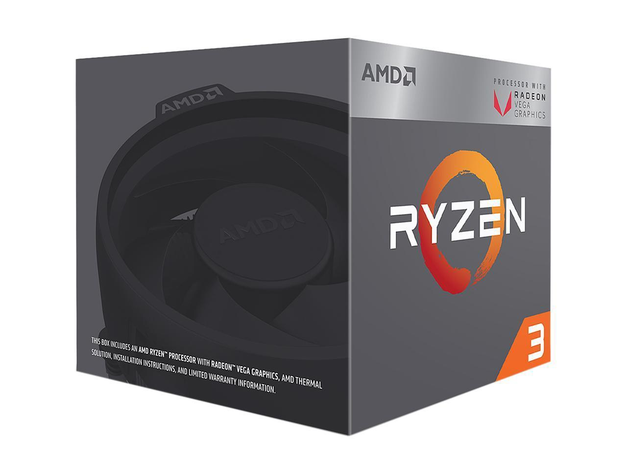 Процесор AMD RYZEN 3 2200G 4-Core 3.5 GHz (3.7 GHz Turbo) 6MB/65W/AM4/BOX-2