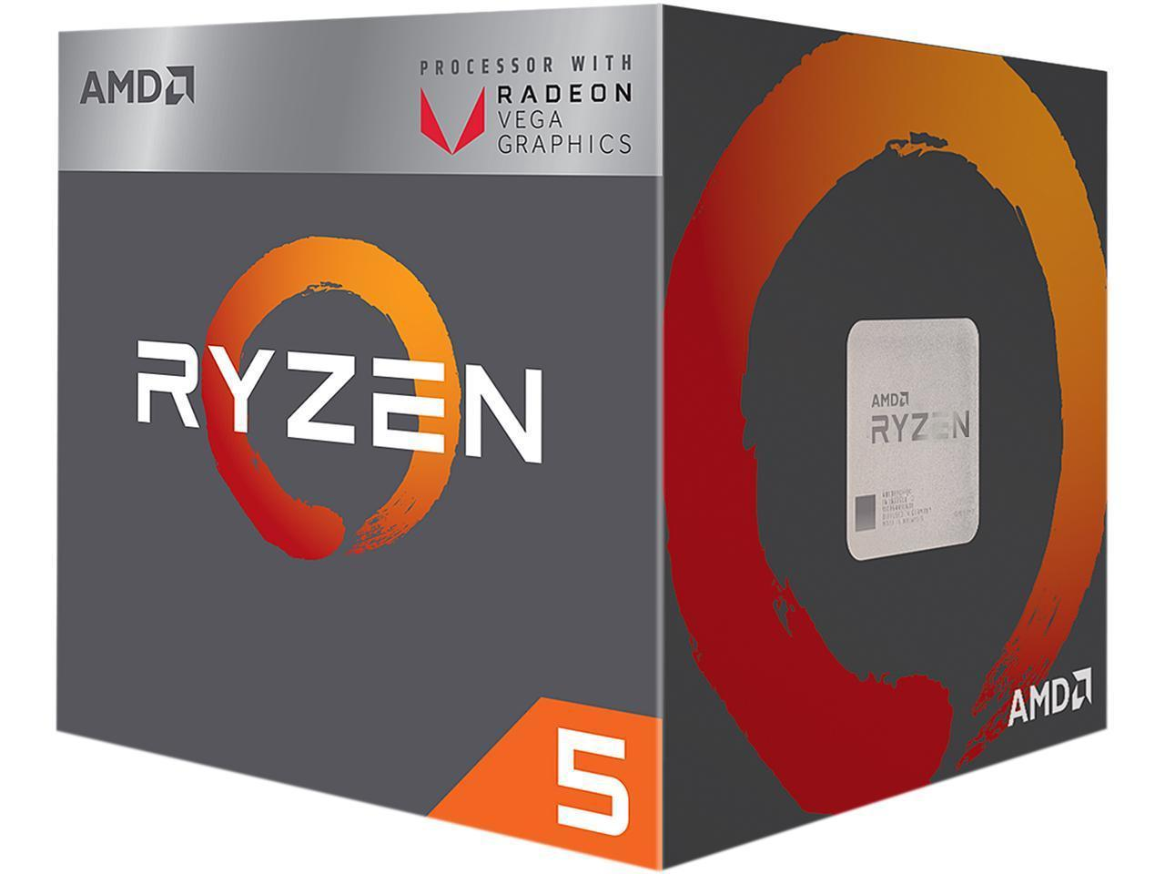 Процесор AMD RYZEN 5 2400G 4-Core 3.6 GHz (3.9 GHz Turbo) 6MB/65W/AM4, BOX