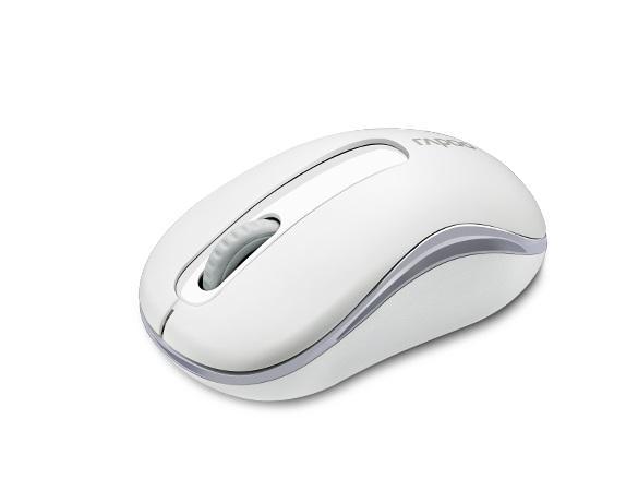 Безжична оптична мишка RAPOO M10 Plus, Бял, 2.4Ghz