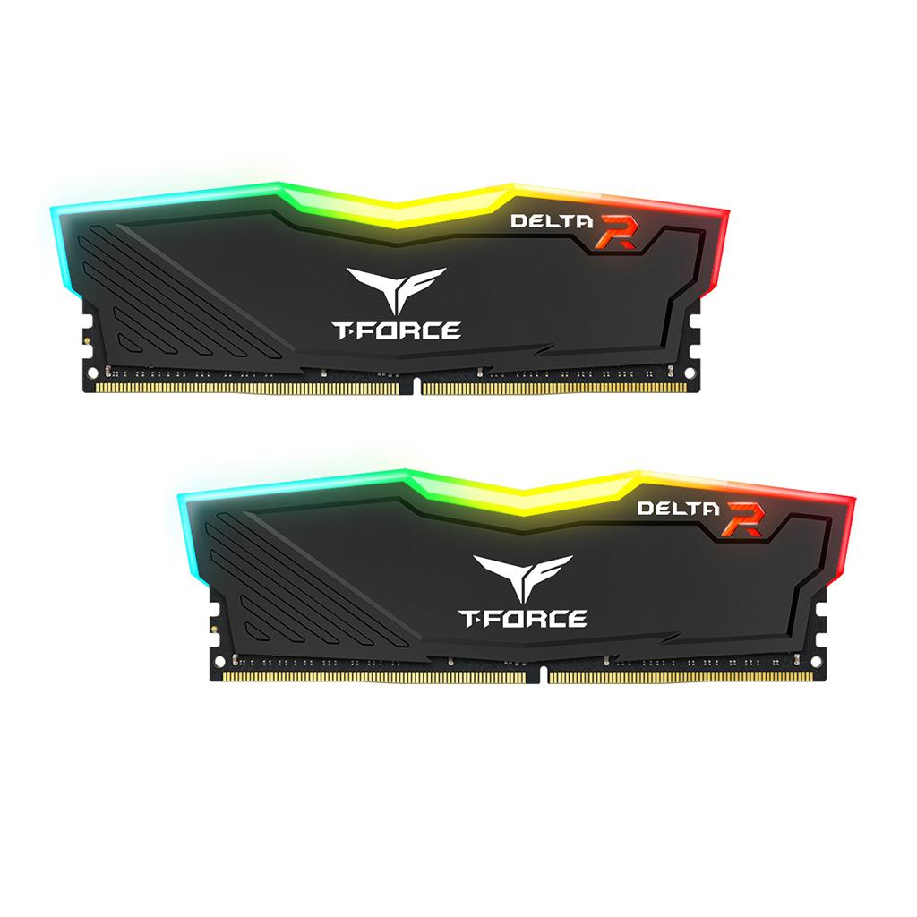 Памет Team Group T-Force Delta RGB Black DDR4 - 32GB (2x16GB) 3000MHz CL16-18-18-38 1.35V