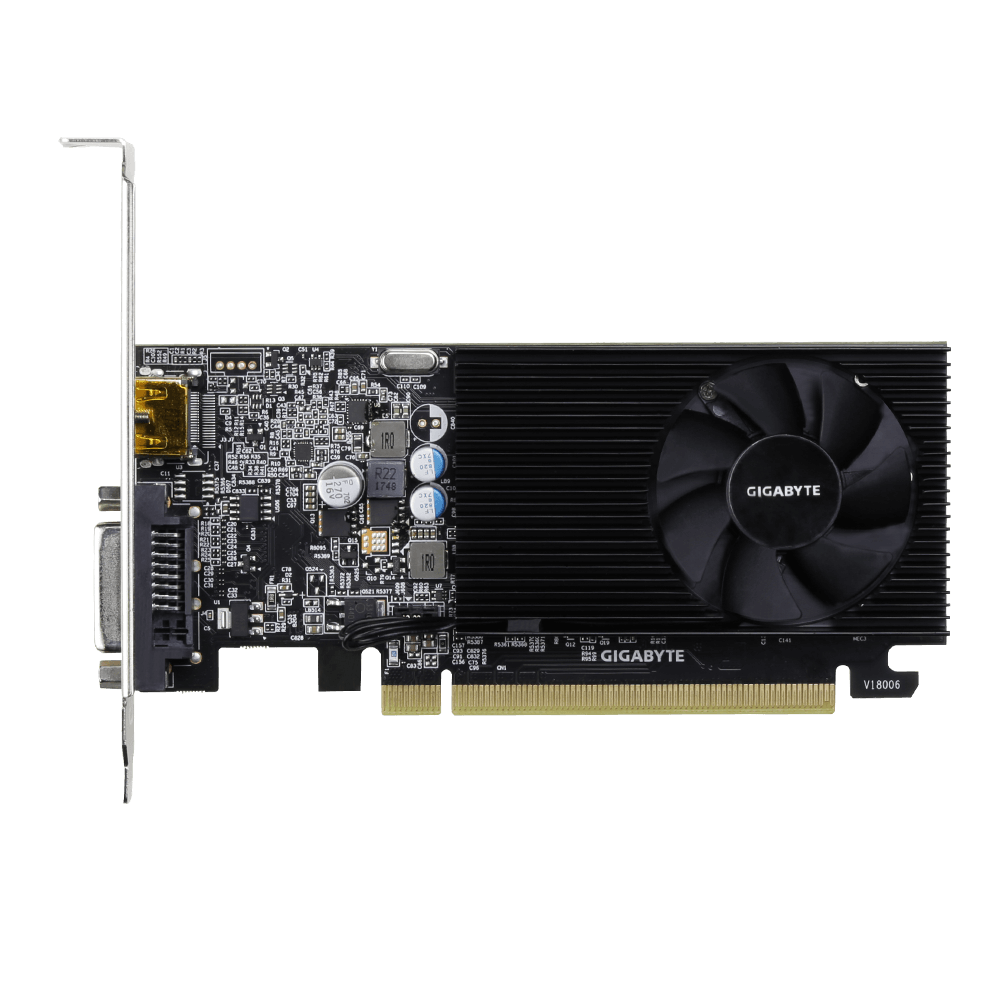 Видео карта GIGABYTE GeForce® GT 1030 D4 2GB DDR4 64 bit, Low Profile, DVI-D, HDMI-2