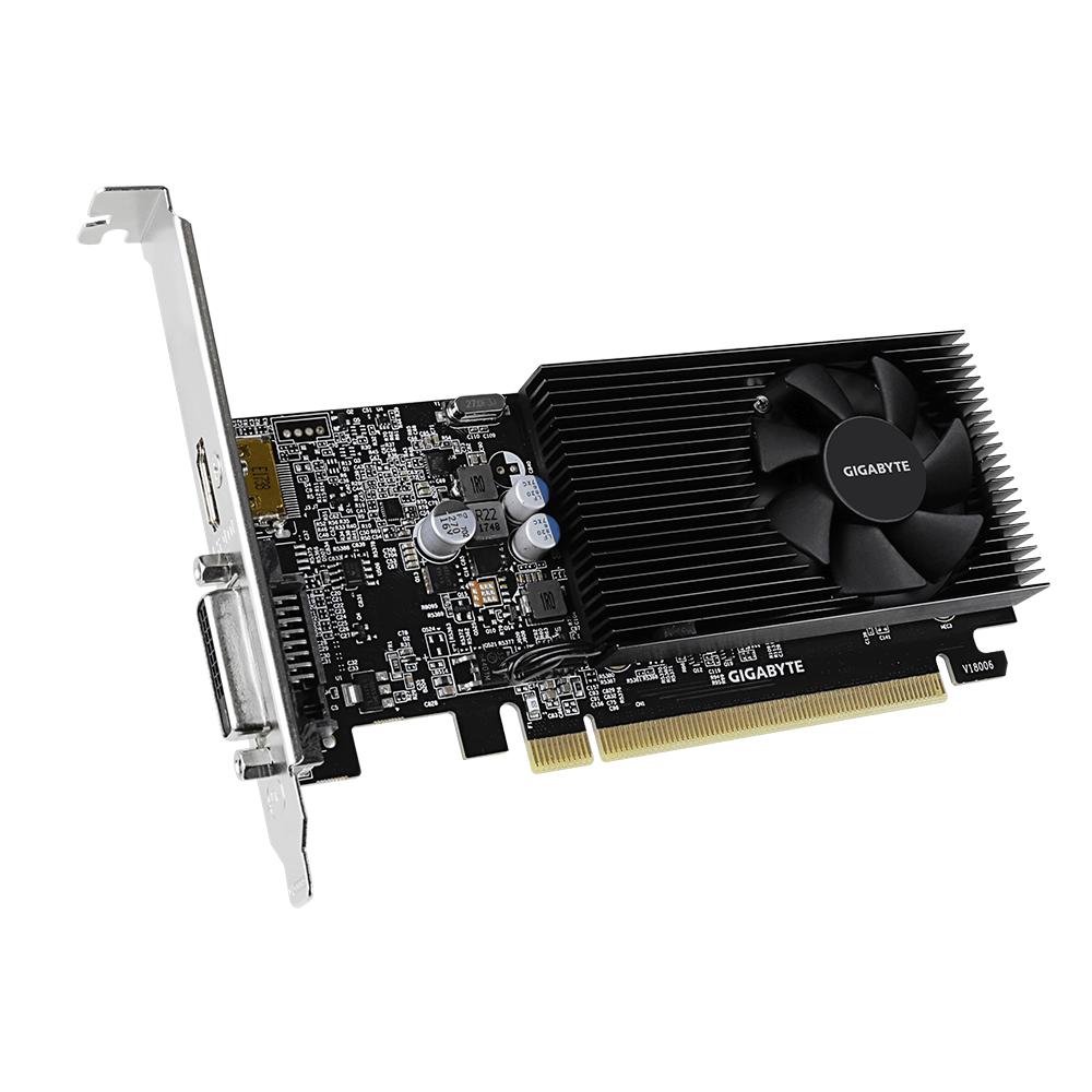 Видео карта GIGABYTE GeForce® GT 1030 D4 2GB DDR4 64 bit, Low Profile, DVI-D, HDMI-3