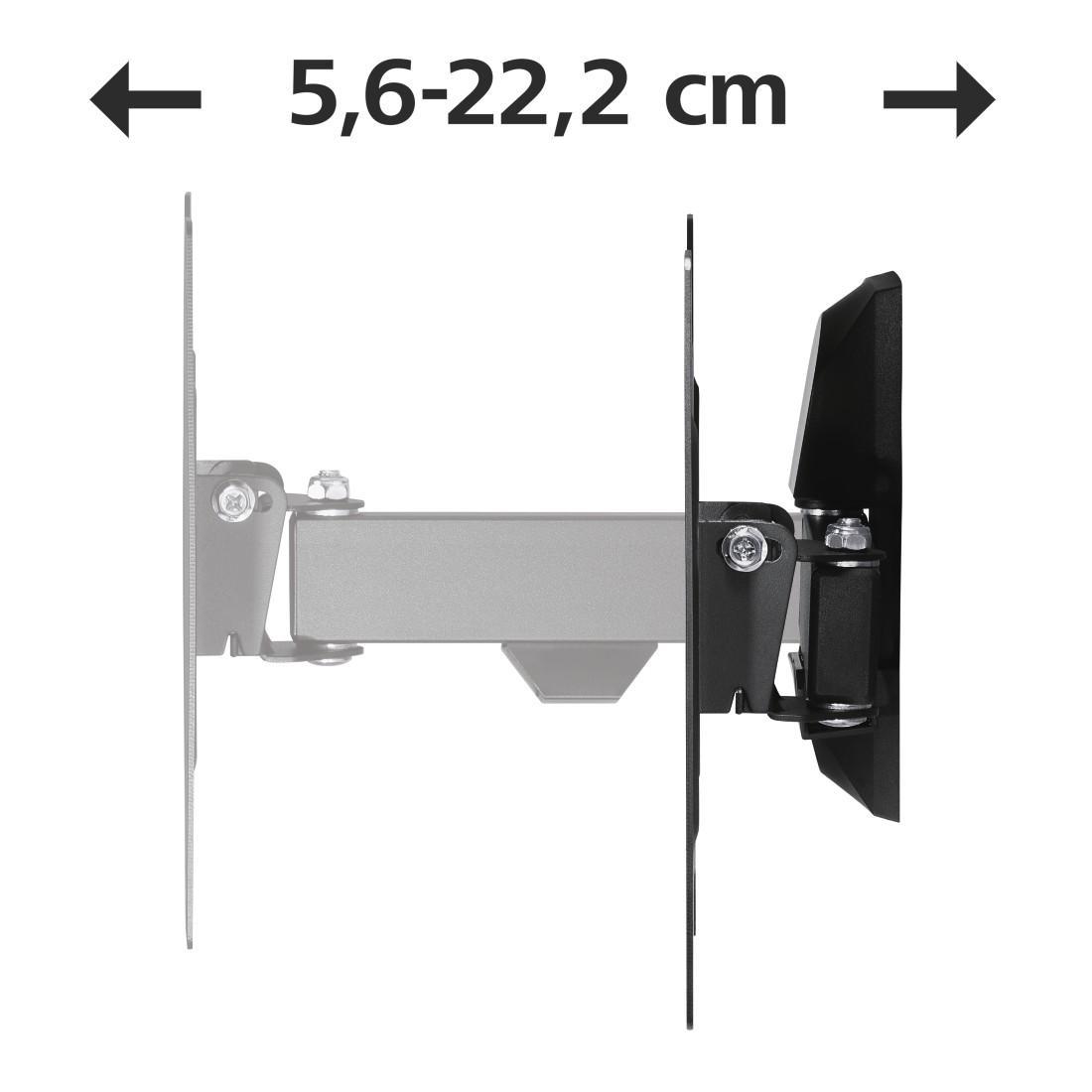 Стенна стойка за TV HAMA 118100, Регулируема, 48, 20 кг, 200 x 200, Черна-4