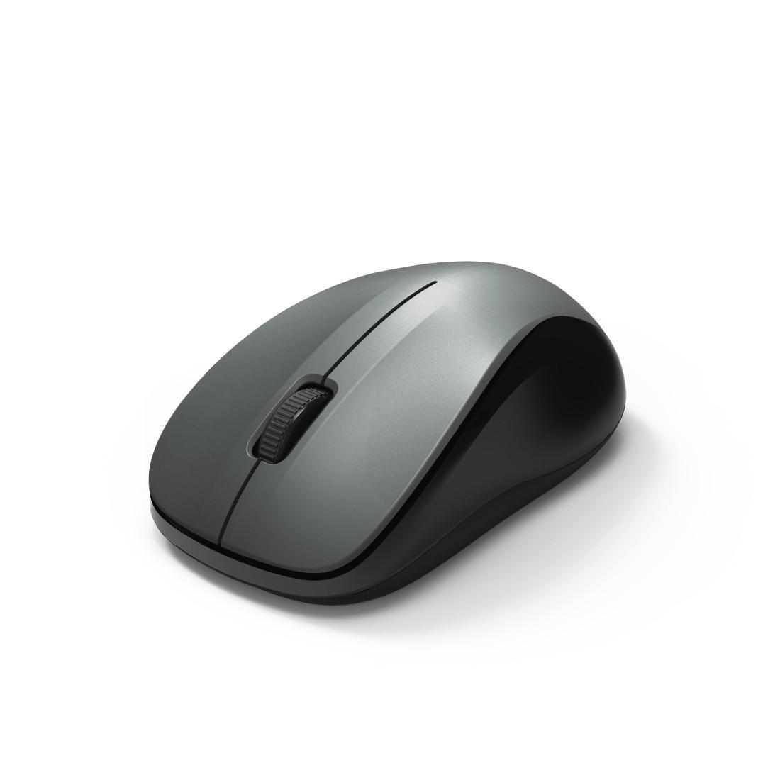 Безжична оптична мишка HAMA MW-300, USB, 3 бутона, 2.4 GHz, Сив/Черен