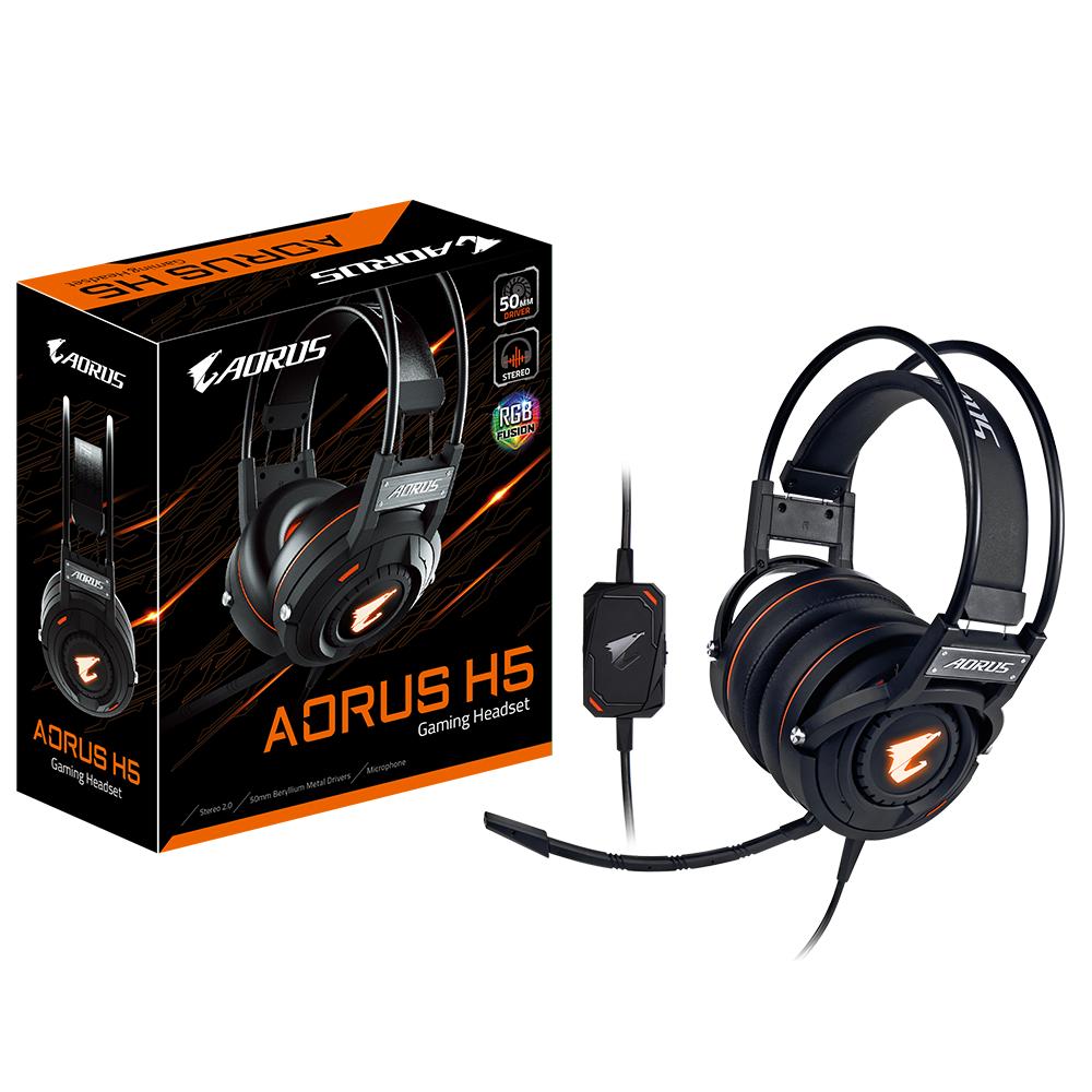 Геймърски слушалки Gigabyte Aorus H5 RGB Fusion-2