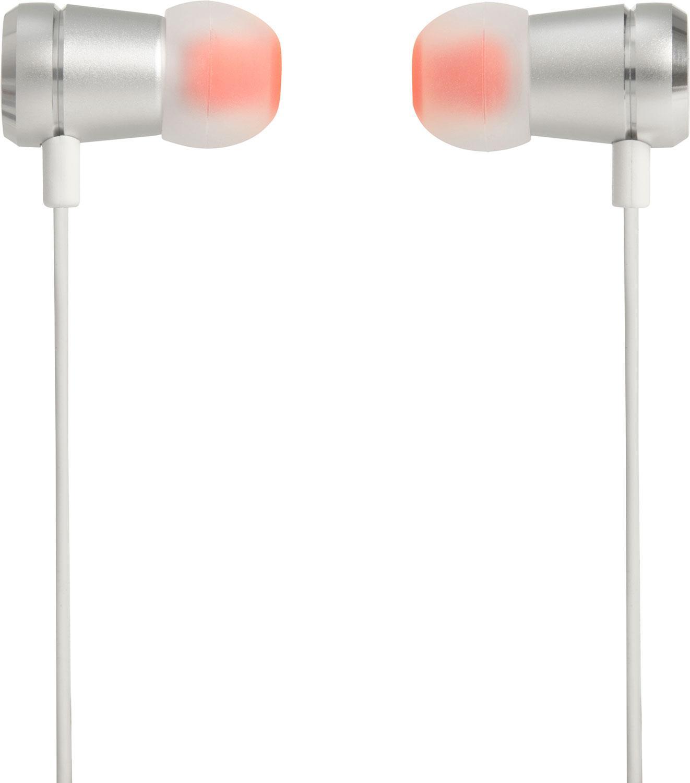 Слушалки тапи JBL T290, Бял/Сребрист-2