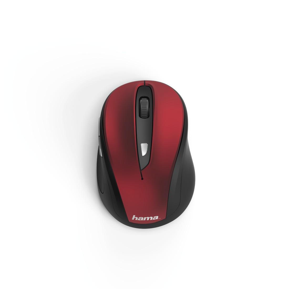 Безжична оптична мишка HAMA MW-400, USB, 1200/1600/800 dpi, Червен/Черен