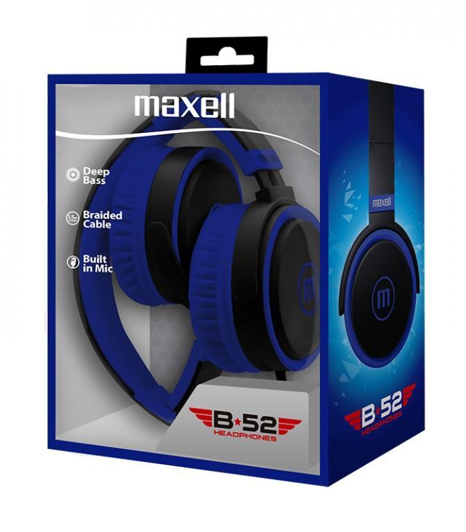 Слушалки с микрофон  MAXELL B52 черно и синьо-2