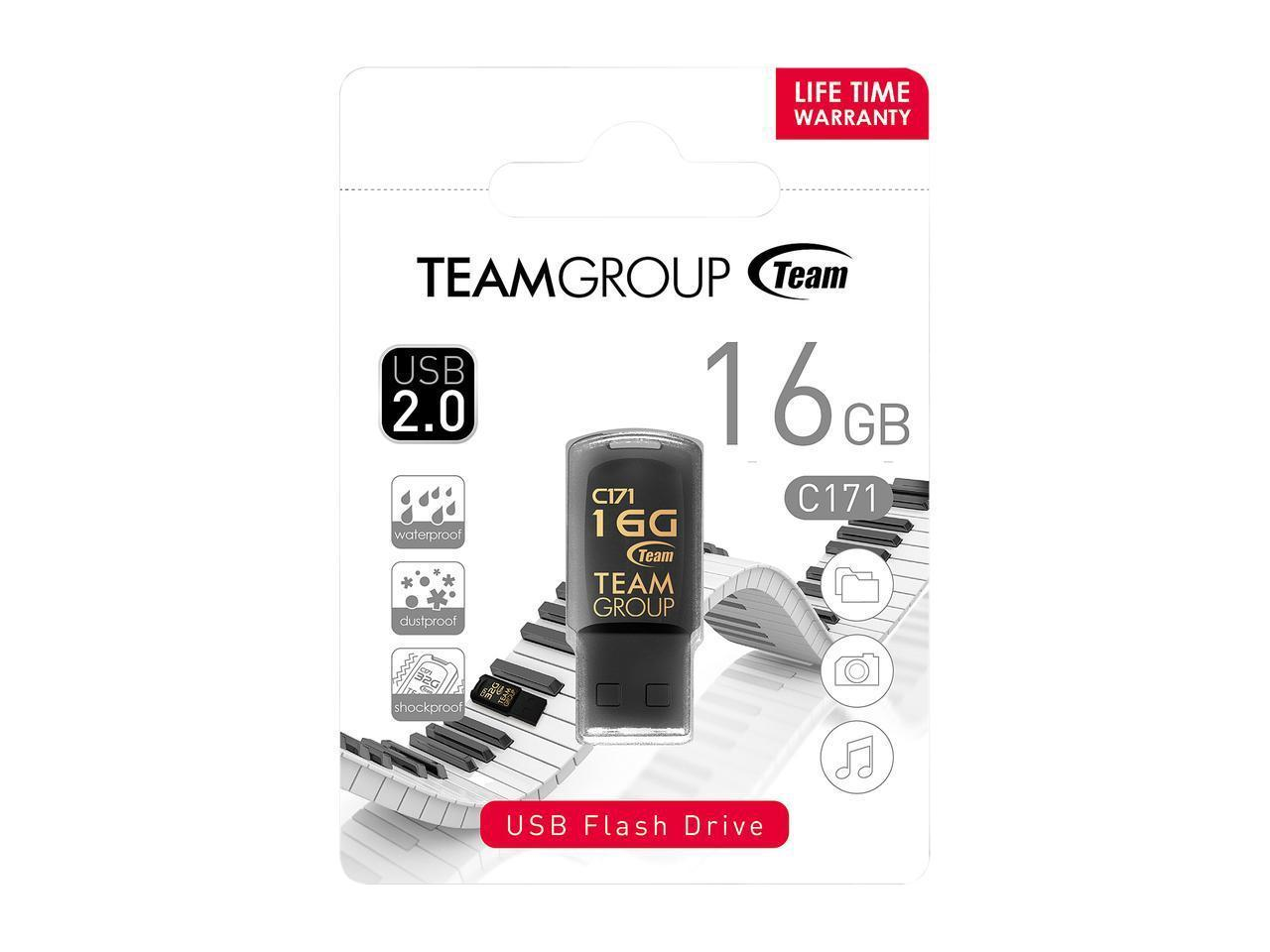 USB памет Team Group C171 16GB USB 2.0, Черен-3