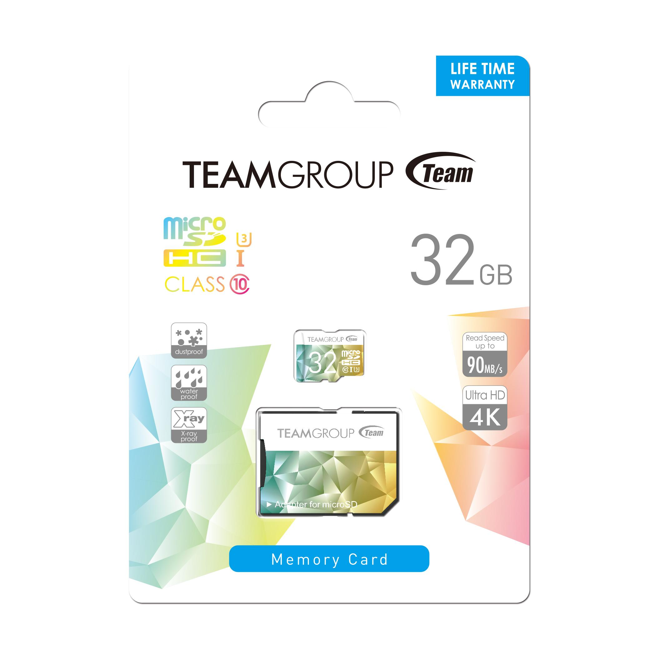 Карта памет Team Group Color Card II 32GB Micro SDHC/SDXC UHS-I U3 + SD Adapter-3