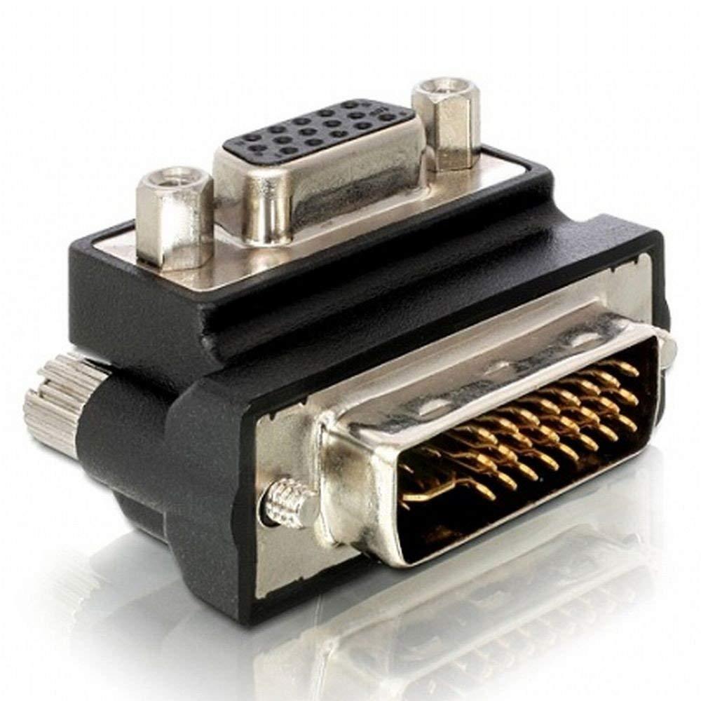Адаптер DeLock VGA женско- DVI мъжко, 90°
