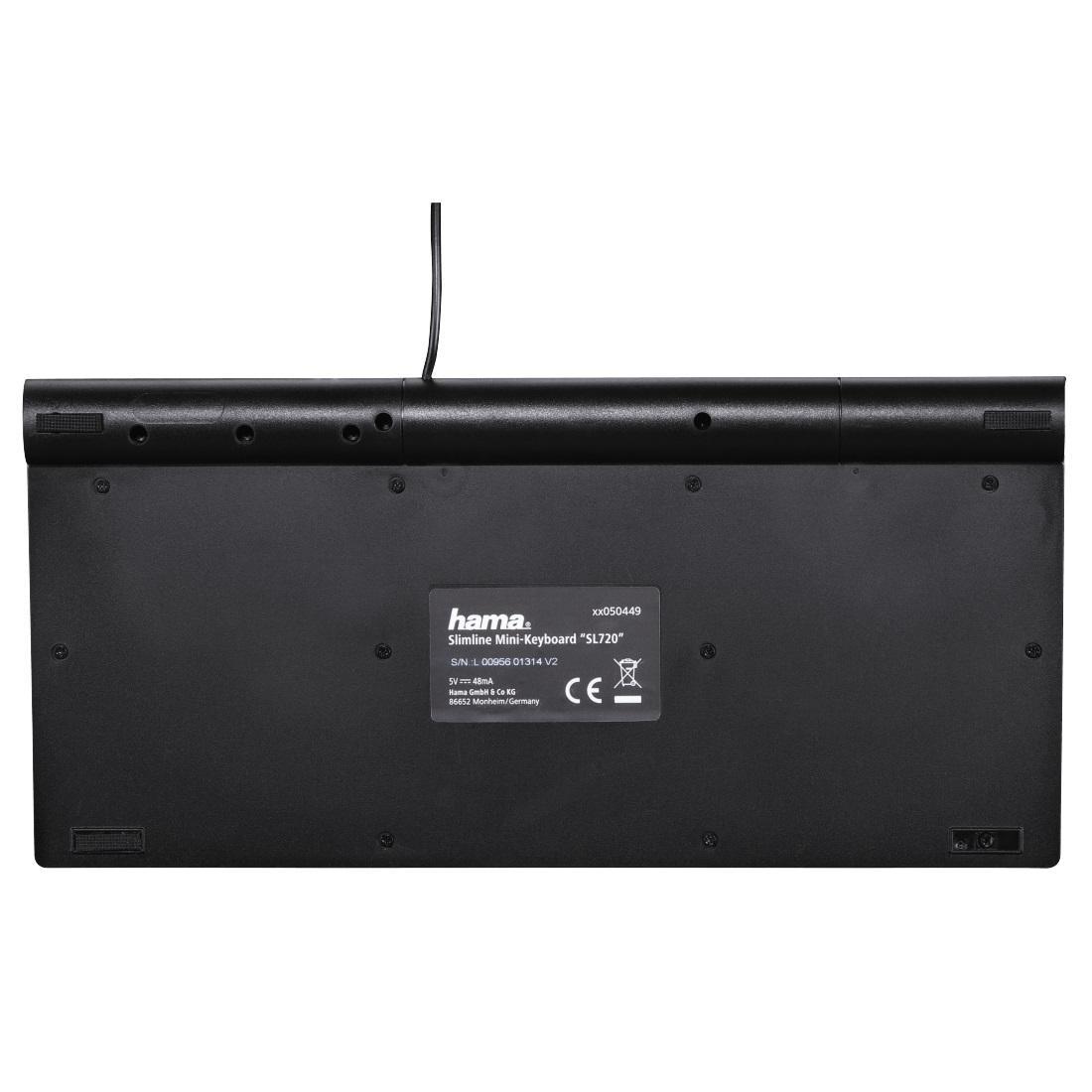 Мини клавиатура за лаптоп HAMA SL720, Черна-4