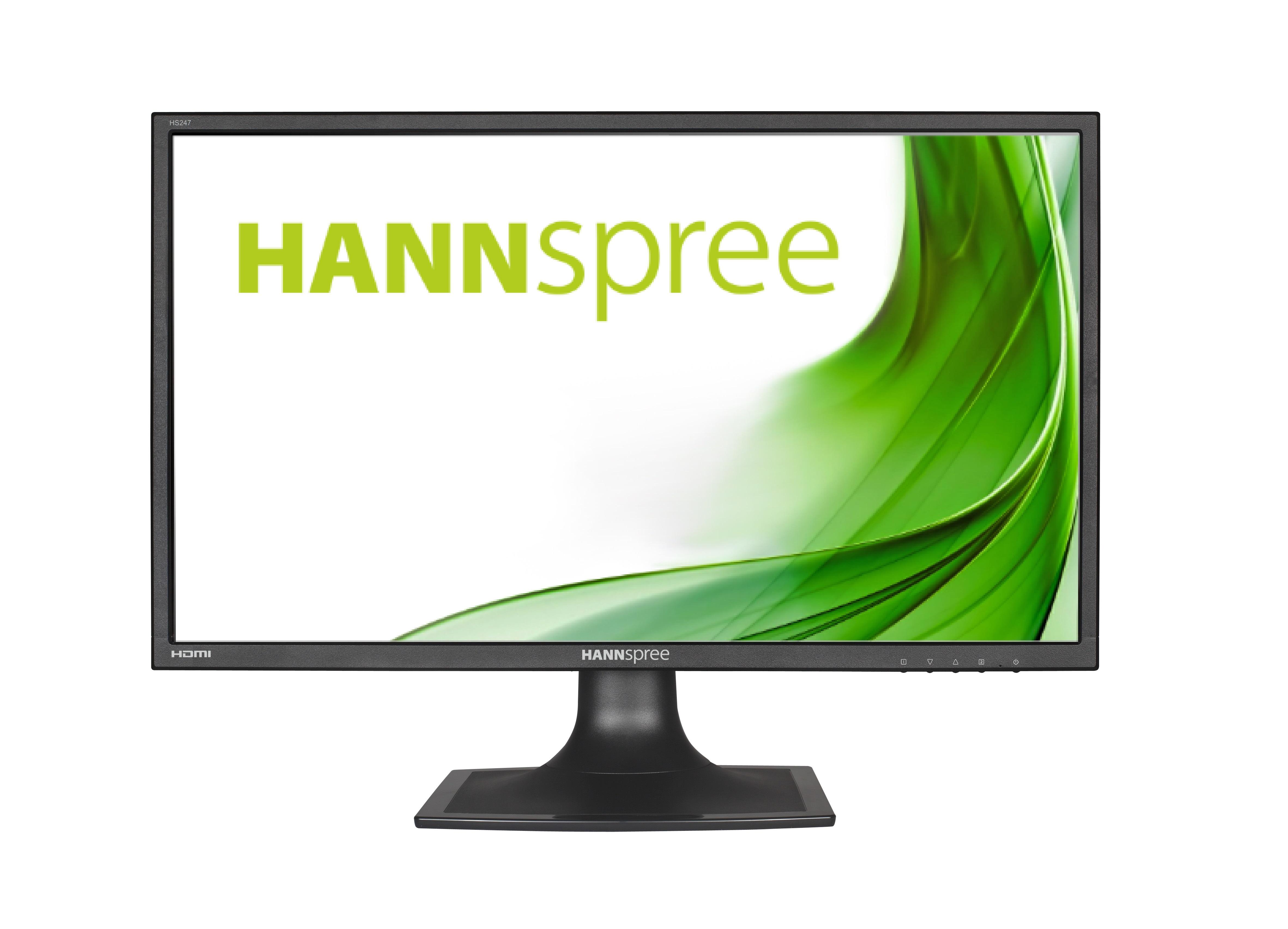 Монитор HANNSPREE HS247HPV, TFT, 23.6 inch, Wide, Full HD, D-Sub, DVI-D, HDMI, Черен