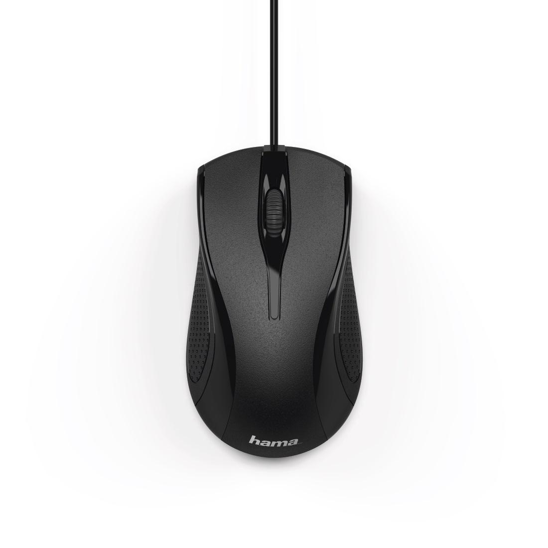 Оптична мишка HAMA MC-200, кабел 1.5 м, USB, 1200 dpi, 3 бутона, Черен-2