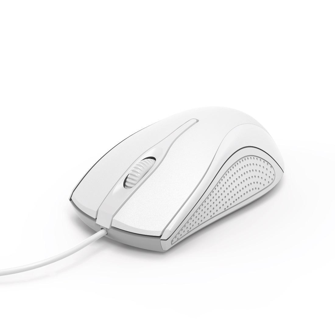 Оптична мишка HAMA MC-200, кабел 1.5 м, USB, 1200 dpi, 3 бутона, Бял