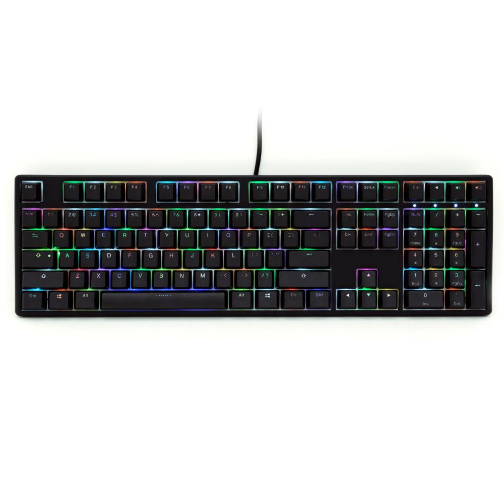 Геймърскa механична клавиатура Ducky One Black RGB, Cherry MX Silver
