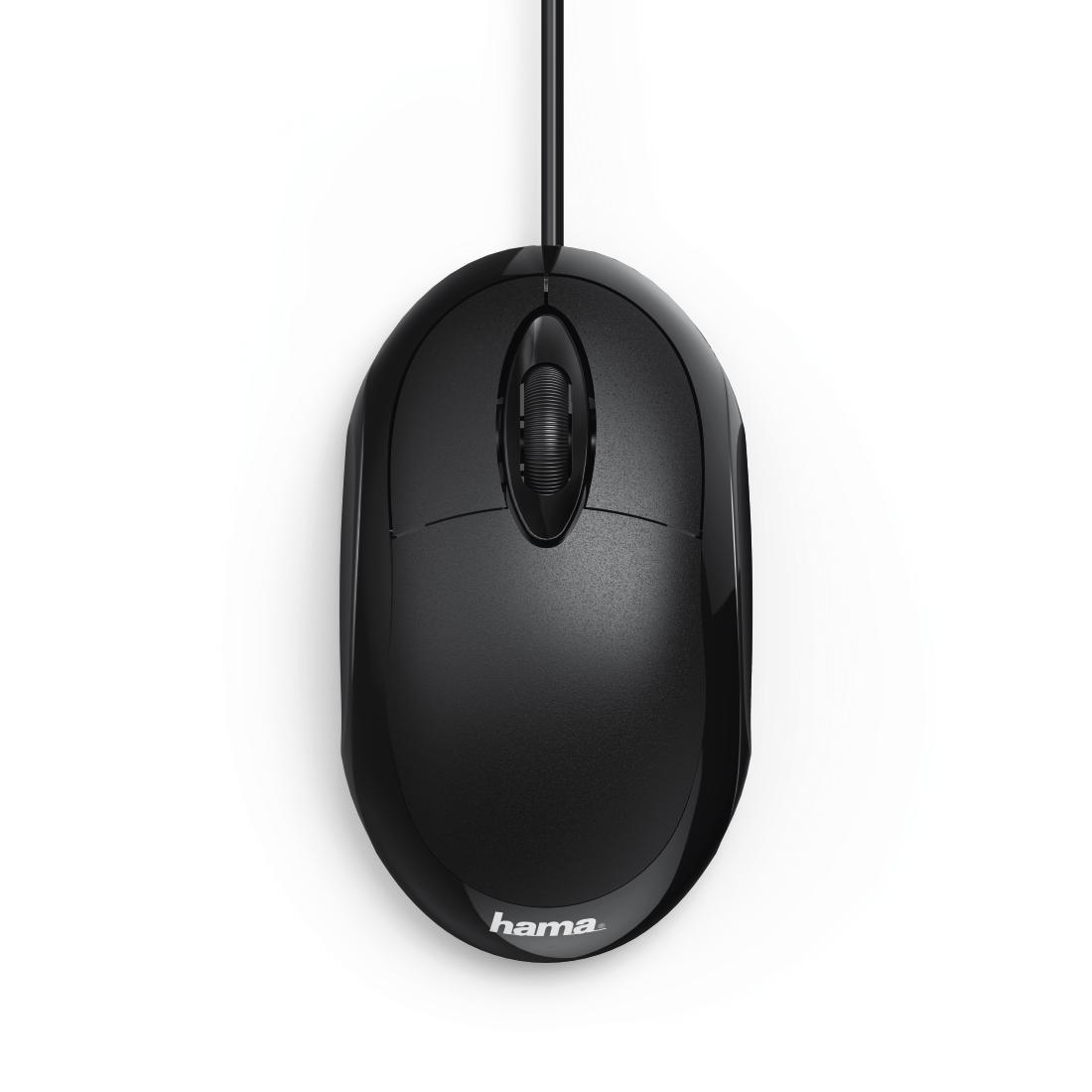 Оптична мишка HAMA MC-100, кабел 1.3 м, USB, 1000 dpi, 3 бутона, Черен-2