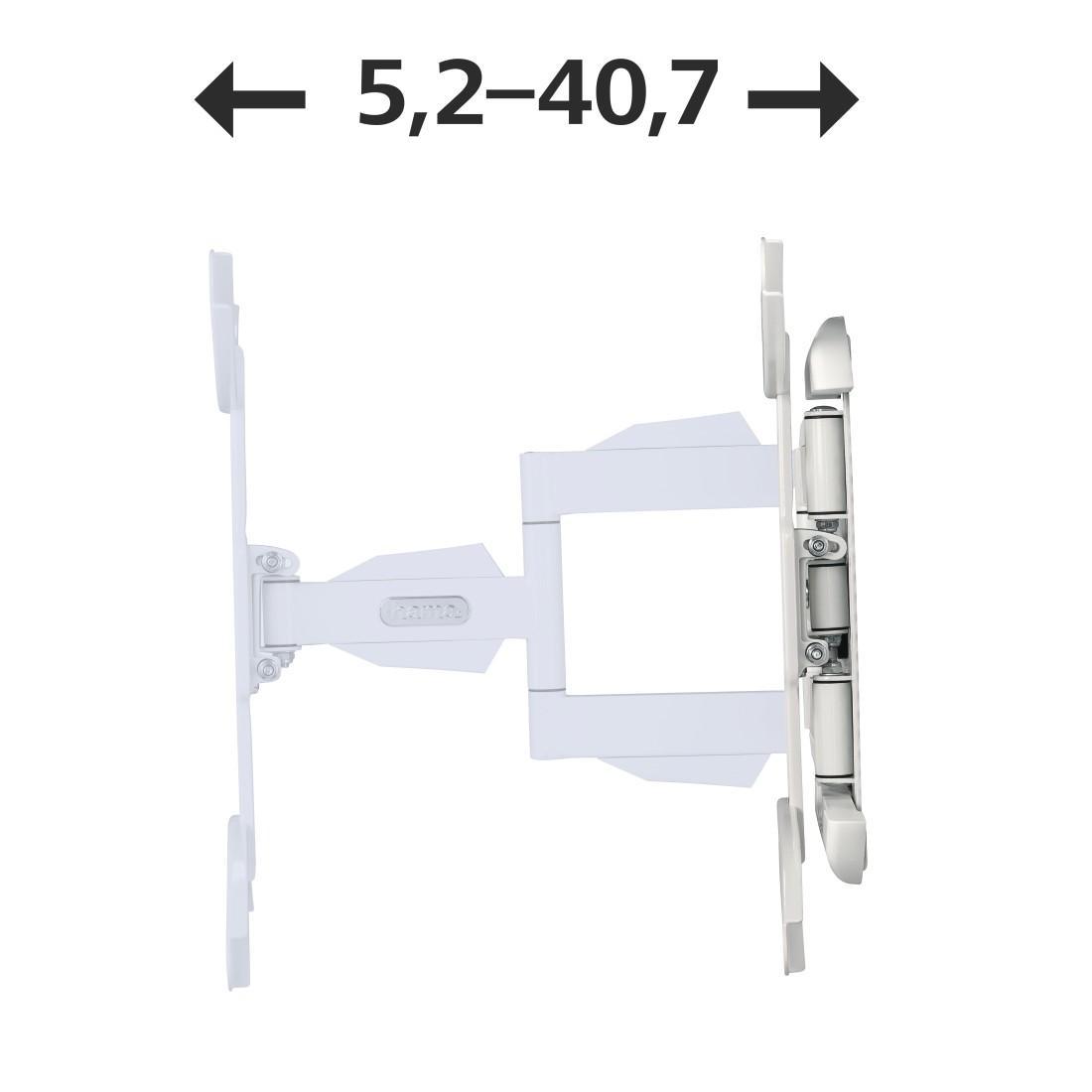 Стенна стойка за TV HAMA 118675, Регулируема, 32-65, 35 кг, Бяла-4