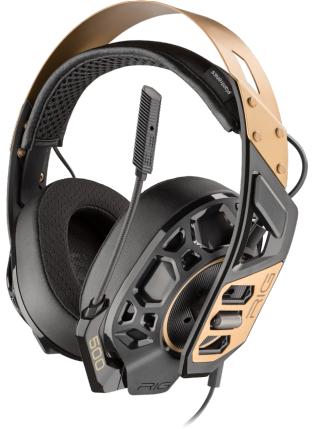 Геймърски слушалки Plantronics RIG 500 PRO, Микрофон, Черен/Златист