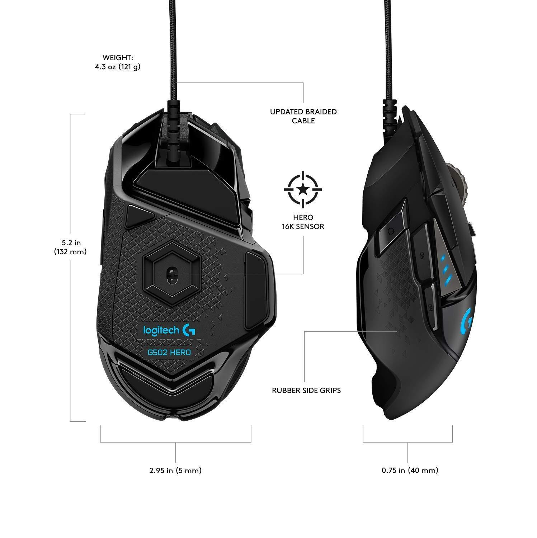 Геймърска мишка Logitech G502 HERO Proteus Spectrum RGB-3