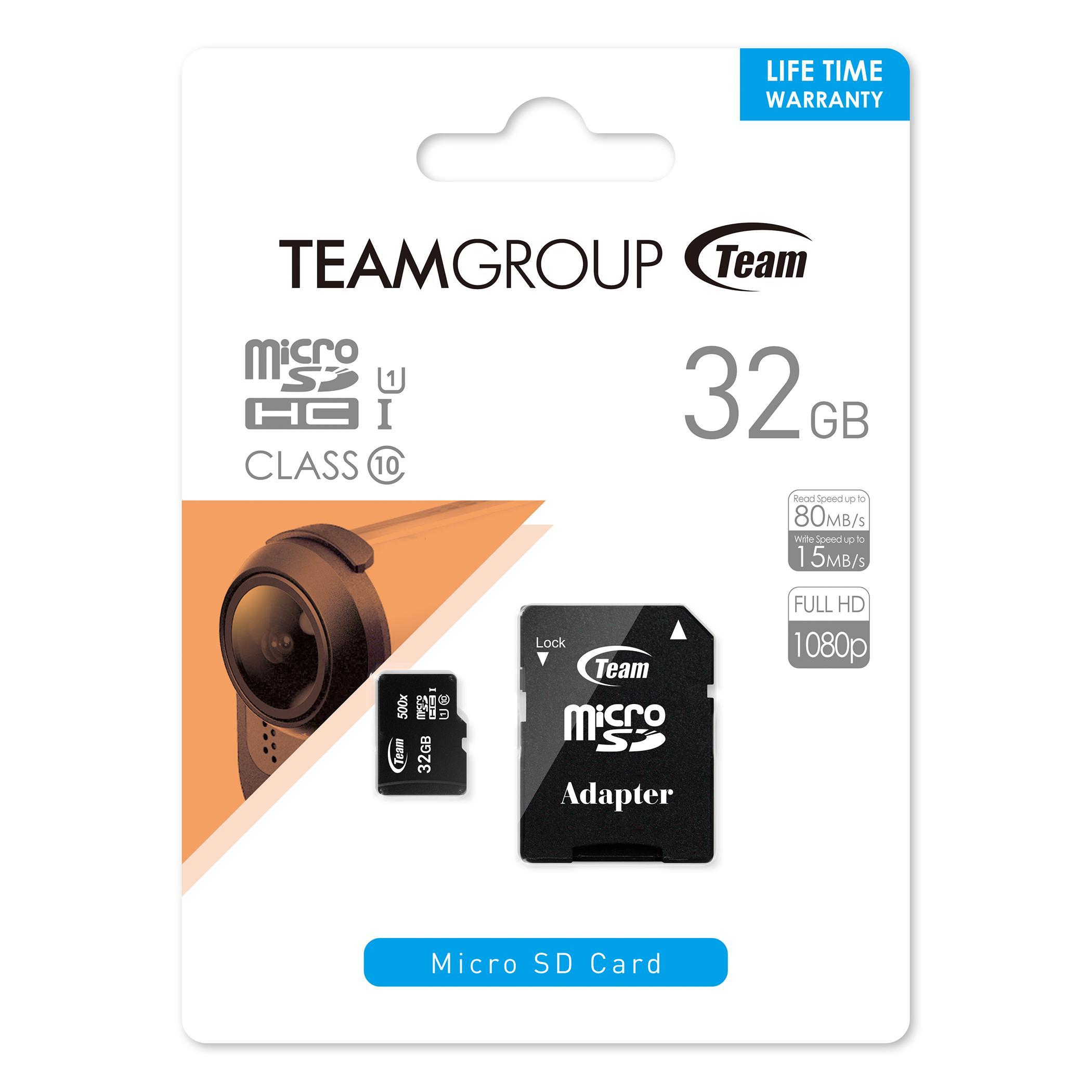 Карта памет Team Group 32GB Micro SDHC/SDXC UHS-I CARD + SD Adapter