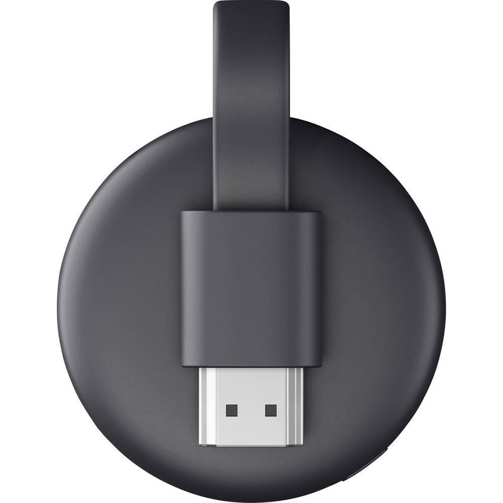 Мултимедиен плеър Google Chromecast 3rd Gen, HDMI, Черен-4