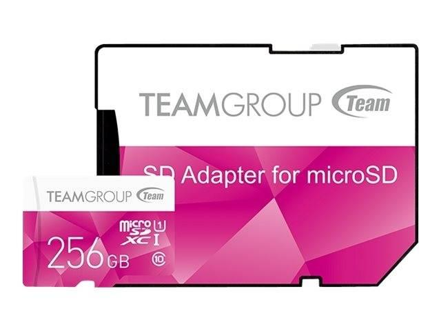 Карта памет Team Group Color microSDXC 256GB, UHS-I Class 10 + SD Адаптер