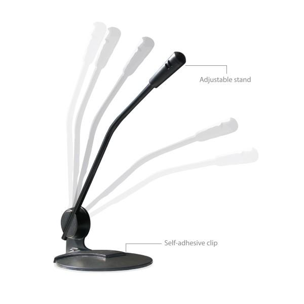 Настолен мултимедиен микрофон EWENT EW3550, Черен-2