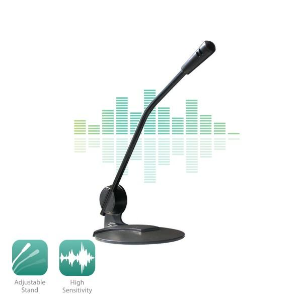 Настолен мултимедиен микрофон EWENT EW3550, Черен-3