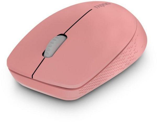 Безжична оптична мишка RAPOO M100 Silent, Multi-mode, безшумна, Розов