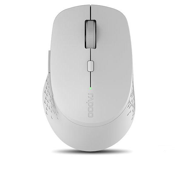 Безжична оптична мишка RAPOO M300 Silent, Multi-mode, безшумна, Сив-2