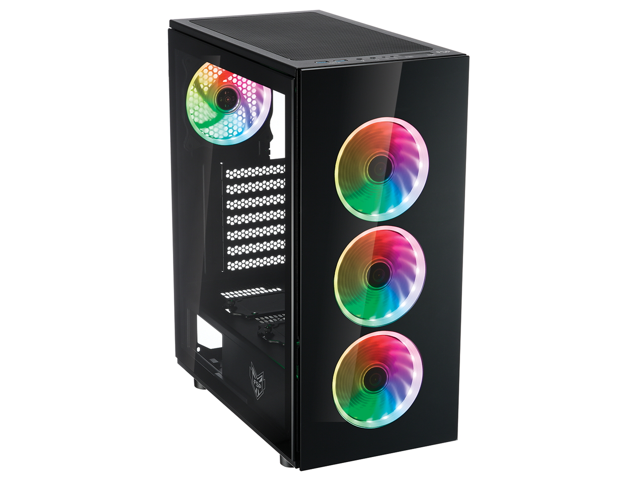 Кутия FSP Group CMT340 ARGB Gaming TG, ATX, Черен