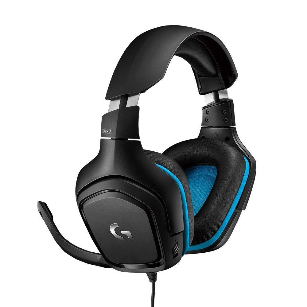 Геймърски слушалки Logitech G432, Микрофон, Черни