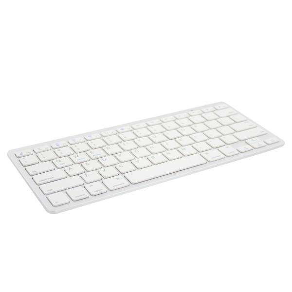 Bluetooth клавиатура Ewent EW3163, за компютри/таблети/смартфони, (Qwerty), Бял