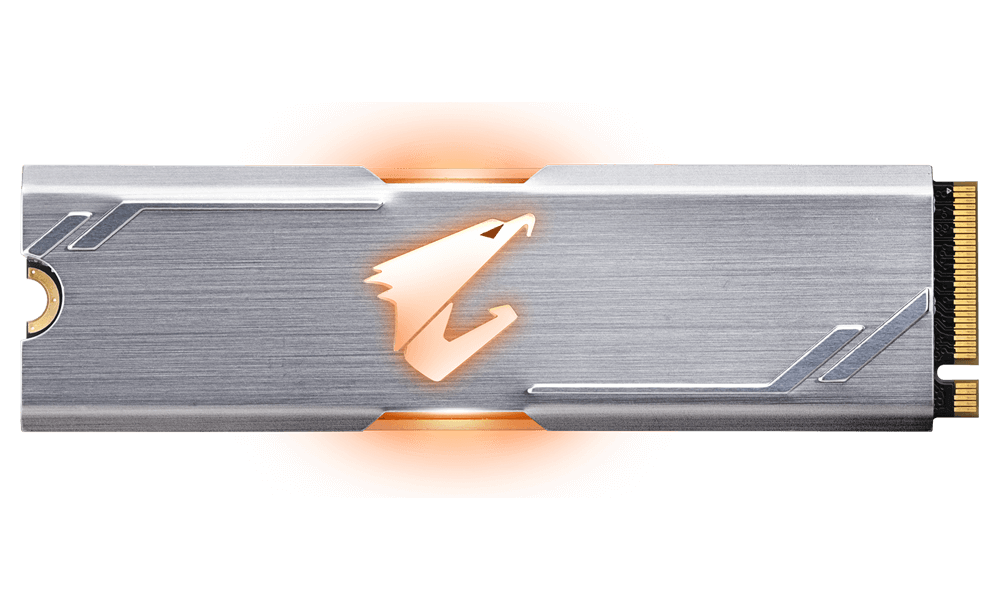 Solid State Drive (SSD) Gigabyte Aorus RGB M.2 NVMe Gen 3 PCIe SSD 512GB -2