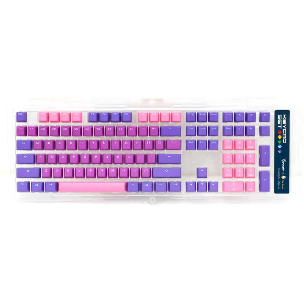 Капачки за механична клавиатура Ducky Ultra Violet 108-Keycap Set PBT Double-Shot US Layout