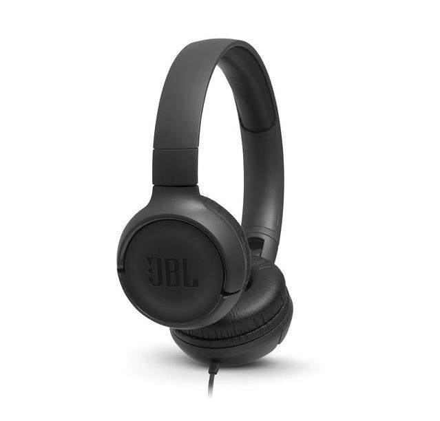 Слушалки on-ear JBL T500, Черен